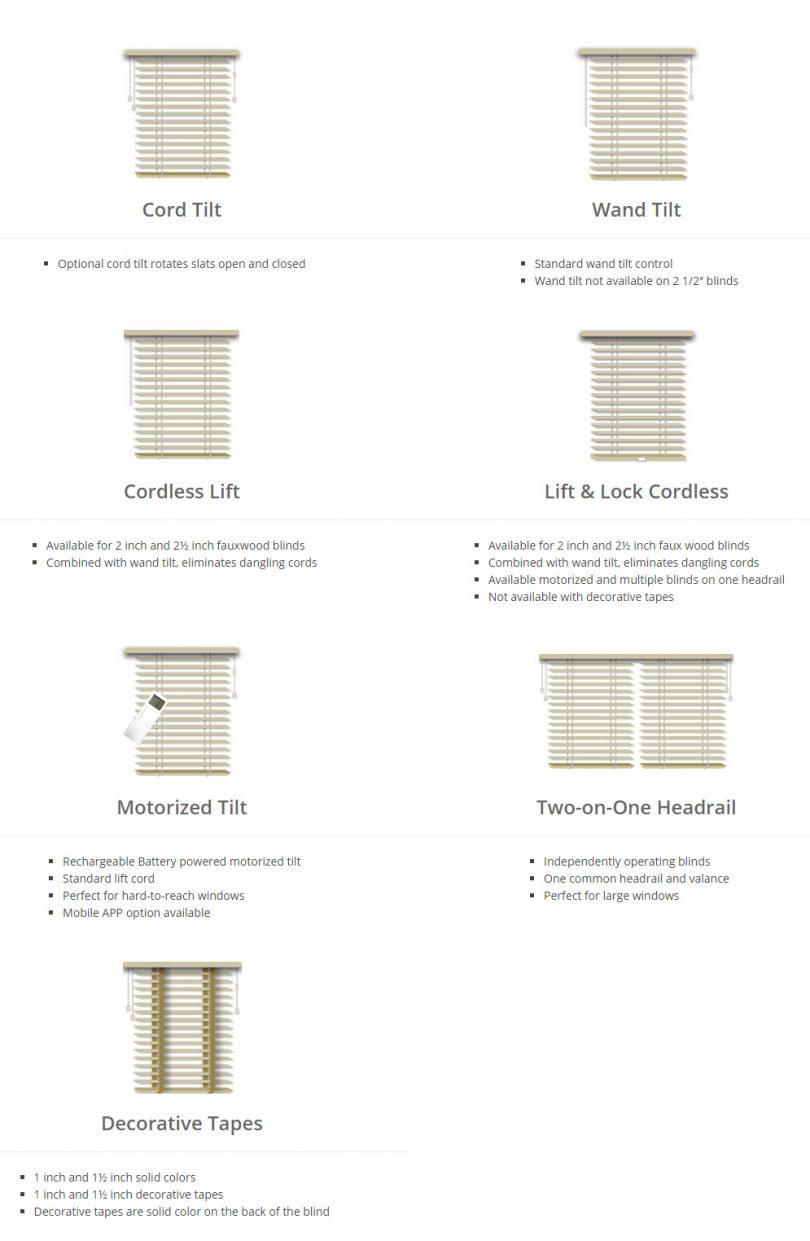 wood blind options
