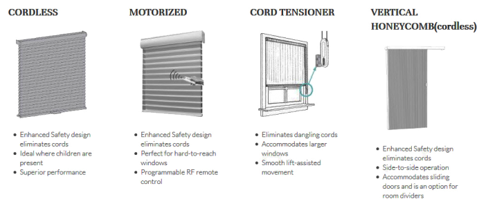 types of child safe blinds and shades